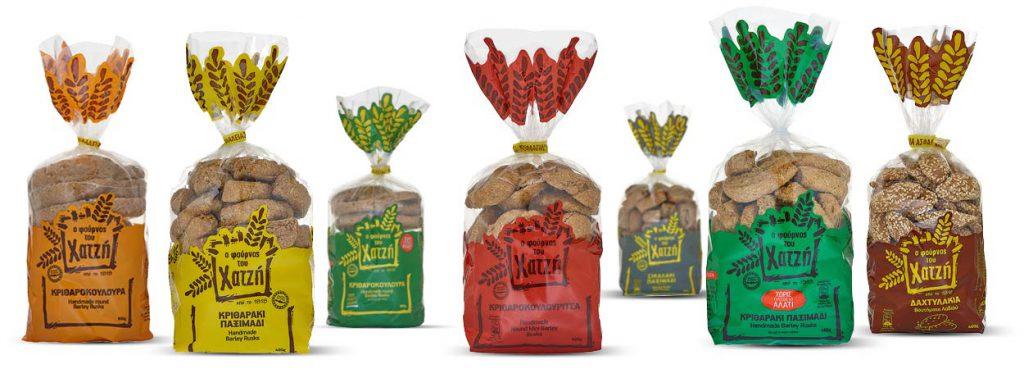 Ο Φούρνος του Χατζή είναι συνυφασμένος με το παξιμάδι, το ψωμί που ψήνεται δυο φορές (διπυρίτης άρτος) και που αποτελεί σήμα κατατεθέν της κρητικής διατροφής.